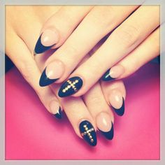 I like this but with regular square tips...not a fan of the stiletto
