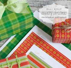 free printable holiday wrapping paper with links to pdf files | elli.com