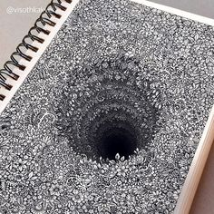 Impossibly Tiny Doodles Fill Sketchbook Pages with Surreal Optical Illusions – Zeichnung , Kritzeleien und mehr Illusion Drawings, 3d Drawings, Detailed Drawings, Pencil Drawings, Amazing Drawings, Flower Drawings, Optical Illusion Art, Amazing Artwork, Optical Illusions Drawings