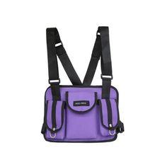 Tactical Chest Rigs, Tactical Bag, Estilo Hip Hop, Nylons, Cross Shoulder Bags, Shoulder Straps, Style Streetwear, Handbags For Men, Purple Bags