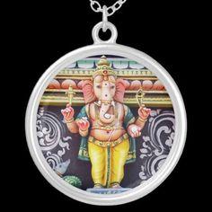 #Ganesha #God #Statue #Necklace © #Bluedarkat - on #Zazzle!