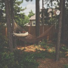 A hammock was the new addition to the backyard this summer. It's now one of my favorite places to nap or read. I hung a citronella plant above it to help keep mosquitoes away. #hammocklife by @thelabeledhomestead