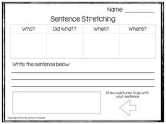 My Newest Freebie is all about Sentence Stretching! Download it for free in my TPT store!