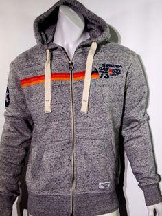 Superdry men's graphic print fleece hoodie size medium NEW on SALE #Superdry #Hoodie