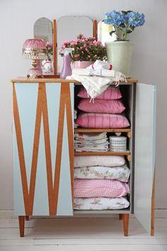 Painted vintage cupboard,