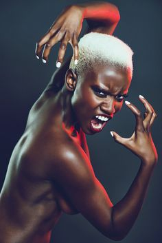 Image of face, fighter, mouth, body - 7553746 Black Girl Magic, Black Girls, Short Hair Styles, Natural Hair Styles, Poses References, Dark Skin Beauty, Foto Pose, African Women, Beautiful Black Women