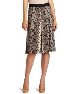 Jones New York Women's Pleated Skirt With Grosgrain This pleated python skirt features grosgrain trim and flatters all body types. Click Picture for More Info