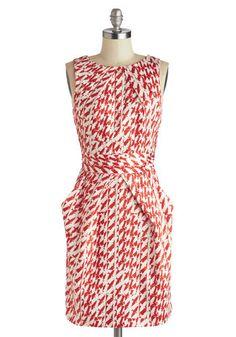 Stroke of Genius Dress in Birds, #ModCloth