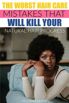 Tips on how to avoid natural hair mistakes and start making progress on your natural hair. #naturalhair Quick Hair Growth, Natural Hair Growth Tips, Natural Hair Types, Vitamins For Hair Growth, Healthy Hair Growth, Postpartum Hair Loss, Hair Growth Treatment, Mistakes, Type 4