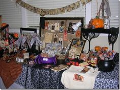 Mementos designs...halloween vintage image banners, tags, framed art, trick-or-treat bags and more!  Alamo, Country Collective Boutique fall 2010