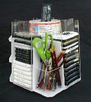 "The ""Quad"" Stamp Pad Holder -- holds up to 60 tamp pads and other craft supplies"