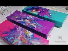 Acrylic Pouring Techniques, Acrylic Pouring Art, Acrylic Art, Acrylic Painting Canvas, Happy Paintings, Small Paintings, Pour Painting, Diy Painting, Diy Resin Art