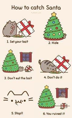 how to catch santa, by pusheen