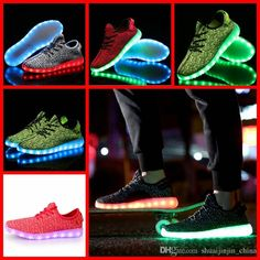 0a3d314e059 2017 Ljjh1281 Hot Sell 1 1 Top Quality Brand New Kanye West Led Boost Men  Women Shoes Sneakers From Shuaijinjin china