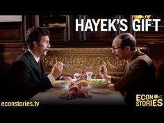 Keynes and Hayek have dinner.