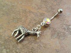 Giraffe Belly Button Ring Belly Jewlery by MidnightsMojo on Etsy, $13.00