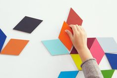 Tangram maganets from Torafu Architects    Kickcan & Conkers