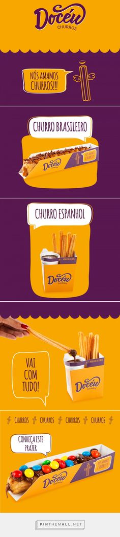 Docéu Churros on Behance - created via https://pinthemall.net