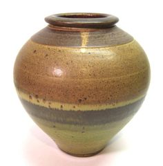 Tom Coleman Large Studio Pottery Speckled Glaze Vase - 1970's Oregon