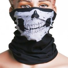 Motorcycle Skull Mask / Wear Headgear Neck Warmer Cycling Goggles Bandana Balaclava Half Ski Skiing Winter Store Shop Item Stuff Protective Hannibal Cheap Skeleton Scary Funny Unique Mouth Full Motorbike Vespa Scooter Riding Biker Rider Fahsionable Fashion Facial Anti Dust Wind Head Wear Hat Scarf Face Cap Cover Cool Helmet Clothing Apparel Clothes Face Black Accessories Gear Part Tool Stuff Supplies Gadgets Men Women Kid Children Bike Decor - http://www.mansboss.com/motorcyc