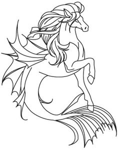 From the depths of Greek mythology, this half horse, half fish is said to have brazen hooves that cause earthquakes in the sea. Downloads as a PDF. Use pattern transfer paper to trace design for hand-stitching.