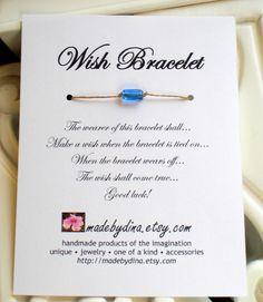 Wish Bracelet - Wedding Favor Party Favor Custom Made for You via Etsy