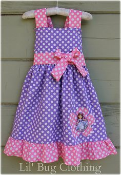Custom Boutique Disney Sofia The First Pink And by LilBugsClothing