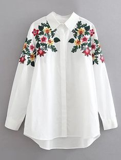 3c514c85c36832 Blouses For Women | Black, White, Long & Cute Blouses Online. $21.99 Floral  Embroidered Cotton Shirt ...