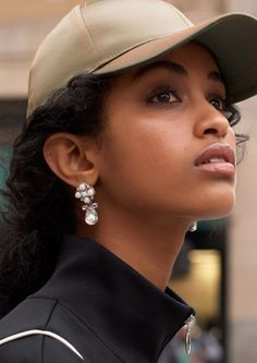 Glam up the sporty look with some statement jewellery. Link to earrings in bio. Youth Club, Diamond Earrings, Pearl Earrings, Urban Street Style, Sporty Look, Actor Model, Statement Jewelry, Character Inspiration, Instagram Posts