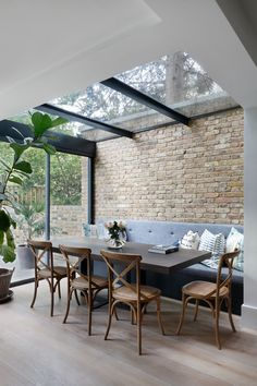House Extension Design, Extension Ideas, Glass Roof Extension, Cottage Kitchen Cabinets, Open Plan Kitchen Living Room, House Extensions, Kitchen Extensions, Modern Kitchen Design, Home Interior Design