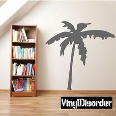 Palm Trees Wall Decal - Vinyl Decal - Car Decal - 059