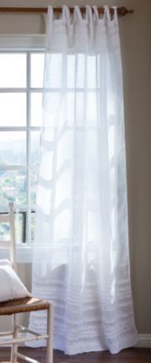 Lulu Sheer Panel - Sheer Drapes, Curtains With Ruffles | Soft Surroundings