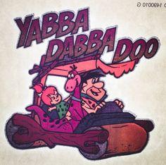The Flintstones - Yabba Dabba Do Iron On Heat Transfer by VintageIronOn on Etsy