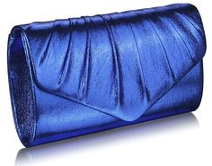 LS Bags metalické psaníčko Prom, modré Envelope Clutch, Clutch Bags, Prom Party, Handbags, Chain, Blue, Metallic, Closure, Amazon