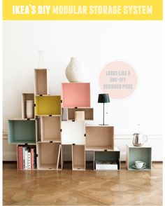 PRANT boxes from ikea...