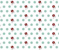 Birdie Dots fabric by natitys on Spoonflower - custom fabric
