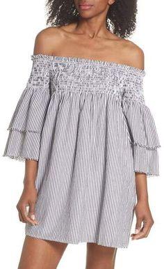 d057641e3cb7 Elan International Bell Sleeve Smocked Cover-Up Dress Hawaii Outfits
