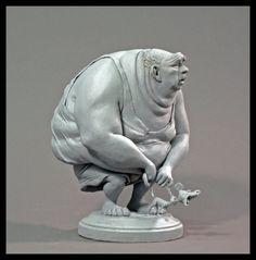 Asiatic Elephant by rgyoung on DeviantArt Character Design Animation, Character Design References, Sculptures Céramiques, Sculpture Art, Character Modeling, Character Art, Traditional Sculptures, 3d Art, Weird Art