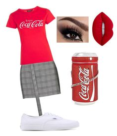 """""""I love coke!!"""" by ekkiwitz on Polyvore featuring Magda Butrym, Topshop, Vans, Lime Crime, outfit, coke, fashionset and whatfun"""