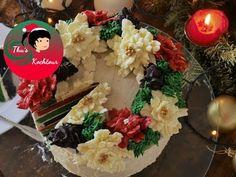 Christmas Wreath Cake/ Weihnachtskranztorte - YouTube