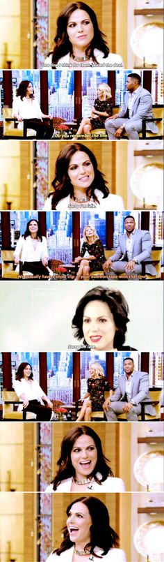 Lana Parrilla on Live with Kelly and Michael, May 11th 2016.