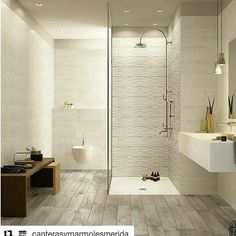 Looking for some bathroom decor inspiration? Here are some beautiful bathrooms to get your decoration gears going. Best Bathroom Designs, Contemporary Bathroom Designs, Contemporary Interior Design, Bathroom Interior Design, Bathroom Ideas, Glass Tile Bathroom, Ceramic Tile Bathrooms, Kitchen Tiles Design, Kitchen Wall Tiles