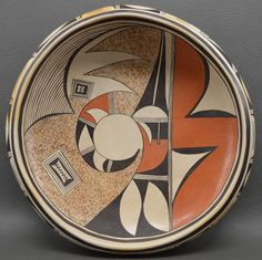 Native American Hopi Pottery Bowl, by Irma David, Ca 1970's-1980's #1002