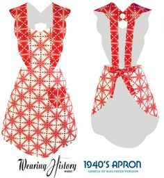 Vintage Apron Patterns Free | 1940′s Apron Pattern- Sample Photos