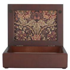 1876 Vintage William Morris Honeysuckle Memory Box - pattern sample design template diy cyo customize