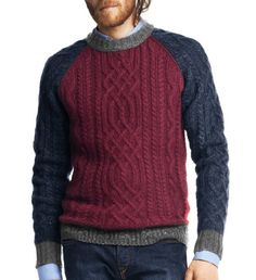 Last-Minute Style Fixes To Instantly Make You Look Better - Herren- und Damenmode - Kleidung Gents Sweater, Woolen Clothes, Crochet Men, Mens Style Guide, How To Purl Knit, Winter Sweaters, Knitting Designs, Mens Clothing Styles, Stylish Men