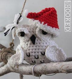 Schattig wit kerstuiltje - Haken - Crochet - Free pattern - Scheepjes Softfun