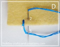 How to do a blanket stitch - GREAT and easy to follow instructions