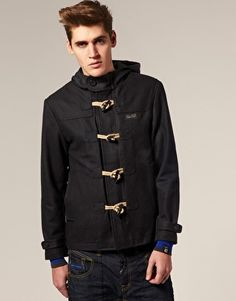 Love the Diesel Black Gold short double-breasted coat on Wantering ...