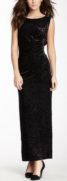 Marina Sleeveless Leopard Print Burnout Dress
